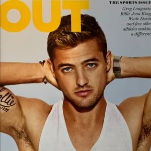 Out magazine August 2013 edition the sports issue